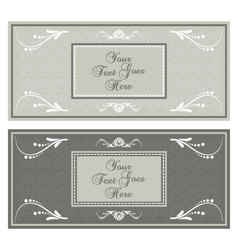 Horizontal earth tone invitation vector image