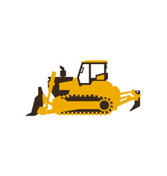 icon bulldozer construction machinery vector image vector image