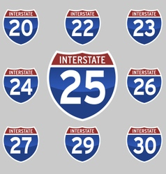 Interstate 20 30 vector