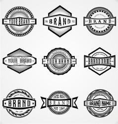 Retro brand labels vector