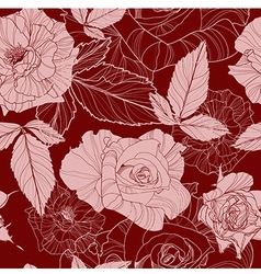 seamless pattern with rose vector image vector image