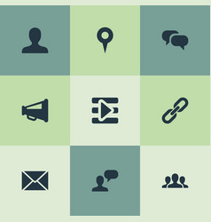 Set of simple social media vector