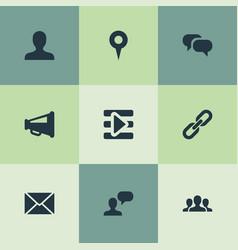 Set of simple social media vector