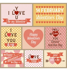Set of Valentines Cards vector image vector image