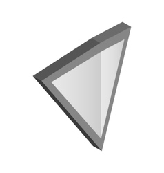 Silver triangular shield icon isometric 3d style vector image vector image