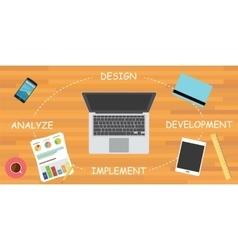 Software development cycle sdlc vector