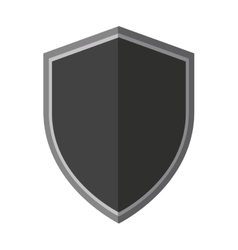 steel secure emblem shield protection shadow vector image