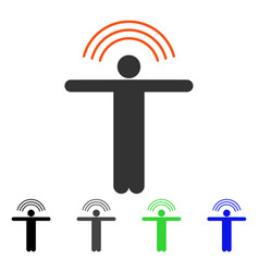 Telepath person flat icon vector