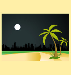 urban beach by night vector image vector image
