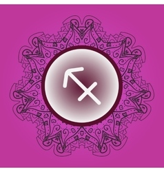 Zodiac sign what is karma circle with vector