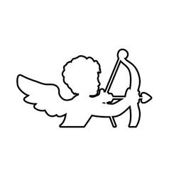 Cupid icon love design graphic vector