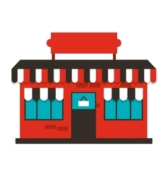 Building store market isolated vector