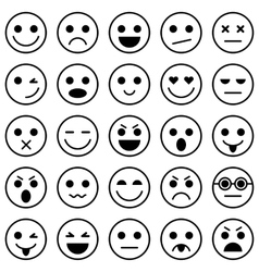 Set of emoticons set of emoji vector