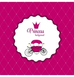 Princess crown background vector