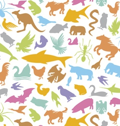 Seamless background with animal vector