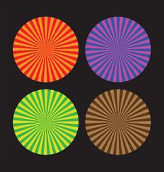 Colourful line swirls vector