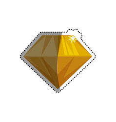 gemstone diamond jewel vector image