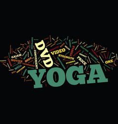 Yoga dvds text background word cloud concept vector