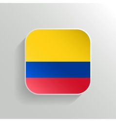 Button - colombia flag icon vector