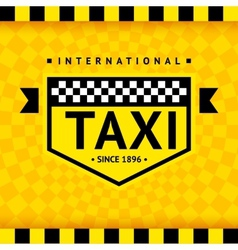 Taxi symbol with checkered background - 08 vector