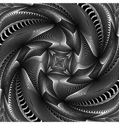 Design monochrome swirl movement background vector