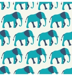 Animal seamless pattern of elephant vector