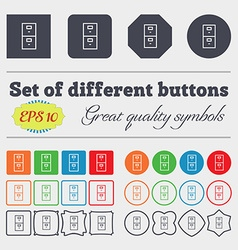 Safe sign icon deposit lock symbol big set of vector