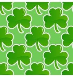 Shamrock seamless pattern vector