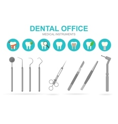 Dentist equipment isolated vector