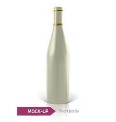 Pearl bottles of wine or cocktail vector
