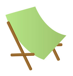 beach chaise longue cartoon vector image vector image