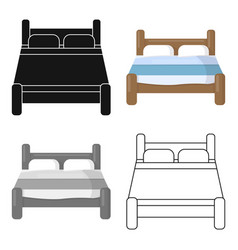 Bed icon of for web and mobile vector