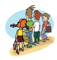 Children at school threat vector