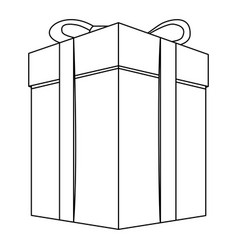 Contour gift long boxes icon vector