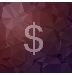 Dollar symbol in flat style icon vector image