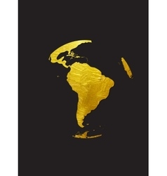 Globe Golden Grunge Icon vector image vector image