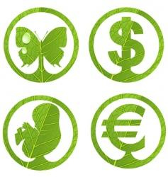 Green emblem vector