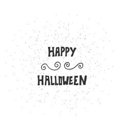 Happy halloween message design background vector