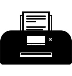Home computer printer icon vector