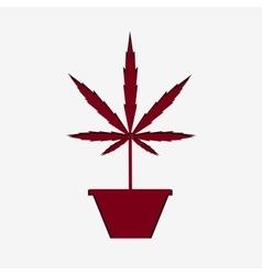 Marijuana silhouette vector