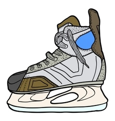 Sketch of hockey skates Skates to play hockey on vector image vector image
