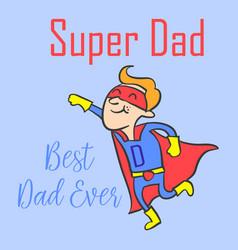 The best father design celebration vector
