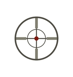 Aim icon flat style vector