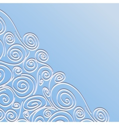 Lace frame with spirals pattern vector