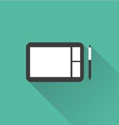 digital sketchpad icon vector image