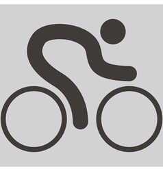 Cycling road icon vector