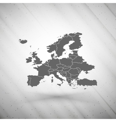 Europe map on gray background grunge texture vector