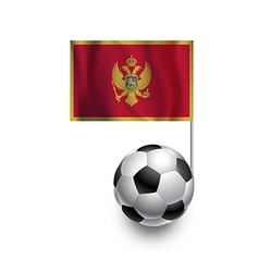 Soccer balls or footballs with flag of montenegro vector