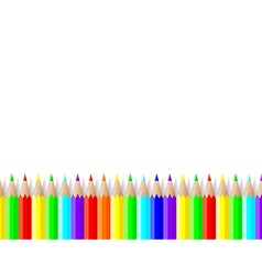 Colored pencils lie on a white background vector
