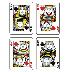 Four queens vector